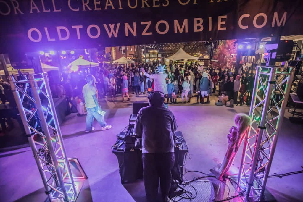 Zombie crawl outdoor lighting rental mountain event services aloadofball Images
