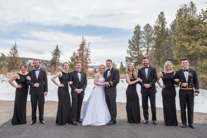 Skye and Christian Breckenridge Wedding at Agape Outpost Bridesmaids and Groomsmen