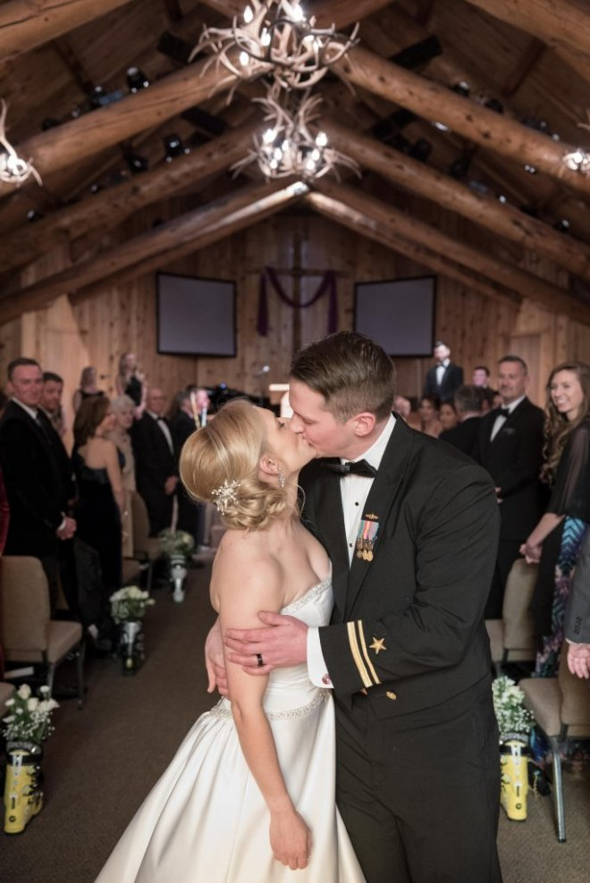 Skye and Christian Breckenridge Wedding at Agape Outpost Second Kiss