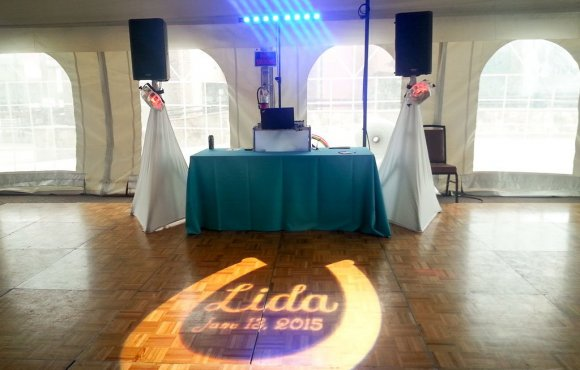 Monogram Projection Gobo Lighting Wedding Bat Mitzvah Steamboat Colorado